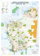 Aboriginal land, conservation areas, mineral and petroleum titles, and geology, Western Australia — 2015