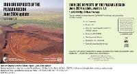 Iron ore deposits of the Pilbara region, June 2004 update