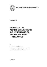 Geology of the western Yigarn Craton and Leeuwin Complex, Western Australia -- a field guide