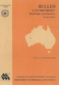 Bullen 1:250 000 sheet, Western Australia, second edition