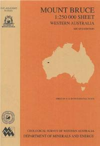 Mount Bruce 1:250 000 sheet, Western Australia, second edition
