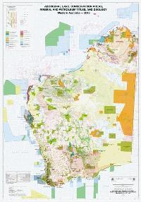 Aboriginal land, conservation areas, mineral and petroleum titles, and geology, Western Australia — 2016