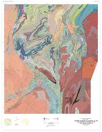 Interpreted bedrock geology of the Lalla Rookh  -  Western Shaw structural corridor, Pilbara Craton