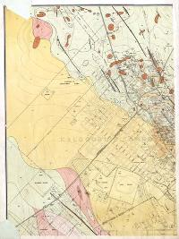Northwest portion of the geological map of Kalgoorlie