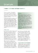 Uranium: a new start for Western Australia 2008-09 Annual Review technical paper