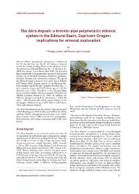 Abstracts 2009: The Abra deposit: a breccia-pipe polymetallic mineral system in the Edmund Basin, Capricorn Orogen: implications for mineral exploration
