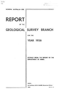 Annual report for the year 1956